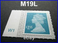 100 X £1.55 Stamps unfranked ROYAL mail peel-able