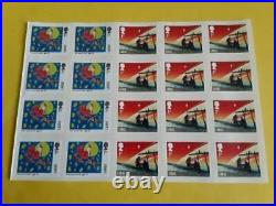100 x Unfranked Christmas Stamps, First Class Large Letter Peelable