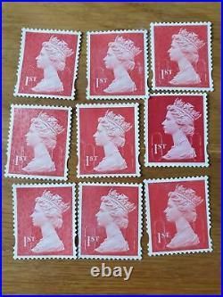 1000 x 1st Class Unfranked Stamps First HIGHEST QUALITY no gum stamp off paper