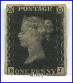 1840 Penny Black position BK mint with part gum 4 close to large margins