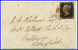 1840 cover 1d grey-black pl. 2 BE to Liverpool withPoulton / Penny Post h/s