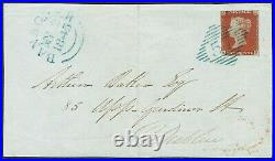 1841 1d Red-Brown SG Superb Rare Blue Irish Diamond'57' of BANAGHER on Front