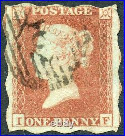 1852 1d red-brown plate 146, Treasury Roulette L/T I. F. Used S. G. B2aa