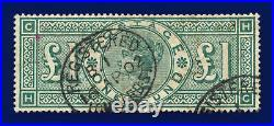 1891 SG212 £1 Green K17 HC Lombard St 16 AP 02 Good Used Cat £800 dhey