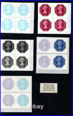 1974 Octagonal Self Adhesive First Serie Stamps Scarce