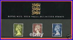 1987 High Values £1 £5 Definitive Pack No 13