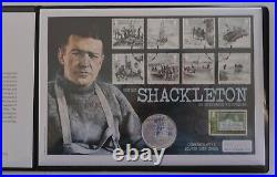 2015 Ernest Shackleton British Antarctic £2 Silver Coin Cover Limit Edition Rare