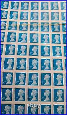 495x2nd class stamps unfranked off paper with gum self adhesive 5sheetx99 sta
