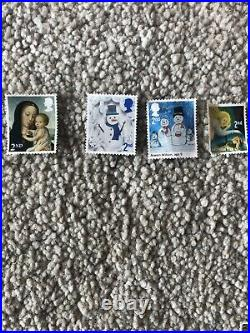 500 2nd Class Christmas Used Stamps Off Paper Unfranked