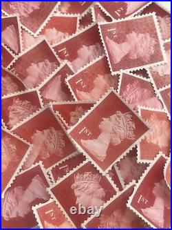 500 x 1st Class Stamps Security Unfranked Off Paper No Gum. FV £425