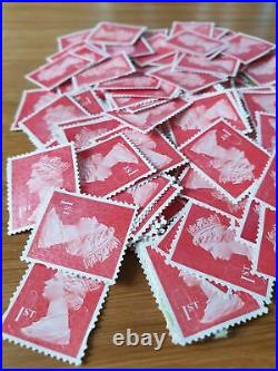 500 x 1st Class Unfranked Stamps First HIGHEST QUALITY no gum stamp off paper