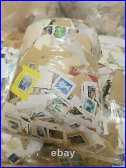 9kg Unsorted GB Used British Stamps Kiloware on paper kilos Christmas Machin