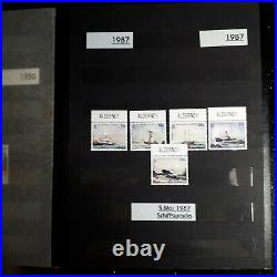 BRIEFMARKENSAMMLUNG ALDERNEY 1983 1998 postfrisch komplett im Album