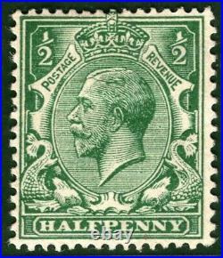 GB KGV Stamp SG. 418c ½d ERROR NO WATERMARK (1925) Spec N33ga Cat £6,000 RED8