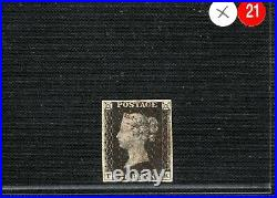 GB PENNY BLACK SG. 3 1d Plate 5 (TK) ORIGINAL STATE 1 Impression Cat £500 XRED21