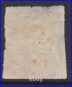 GB QV 1840 1d black imperf 4 margin plate 6 pl6 AA with black MX