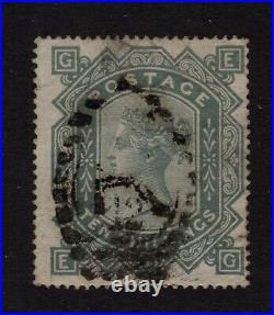 GB QV 1878 SG128 10/- grey-gr heavyish R12 duplex canc good sound stamp cat£3200