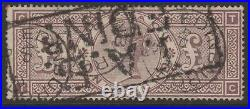 GB QV 1884 £1 Brown wmk crowns TC used K15 sg185 Edinburgh cds