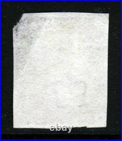 GB QV PENNY BLACK 1840 Plate 1b AB Red Maltese X SG 1 (Specialised AS4) FU
