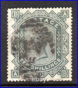 GB QV SG135 10/- Greenish Grey Plate 1 Watermark Anchor Used Faults Cat £4,500