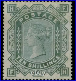 GB QV SG135 10s Greenish Grey FH Anchor Watermarked Mint Very Rare