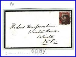 GB Superb TREASURY ROULETTE 1d Red Cover 1852 EXHIBITION QUALITY (RPS Cert) 1d
