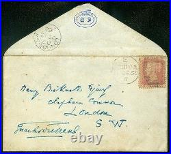 GREAT BRITAIN 1862. Addressed & Signed cover by Charles Dickens. Very Scarce