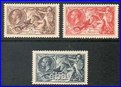 George V Sg 450 452 1934 Re-Engraved set of 3 Seahorses UNMOUNTED MINT/MNH