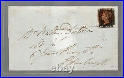 Gran Bretagna 1840 one penny black usato su busta 4 margini bianchi N4201