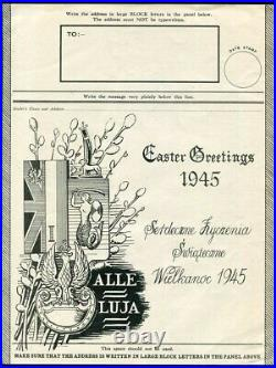 Great Britain Poland World War Two Airgraph Air Letter Easter 1945