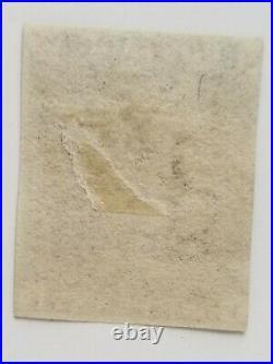 Great Britain Scott #1 Penny Black Victoria 1840 Used 3 Margins Nice Fresh