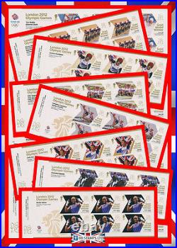 London 2012 Olympic Games Gold Medal Winners Set of 29 Minisheets