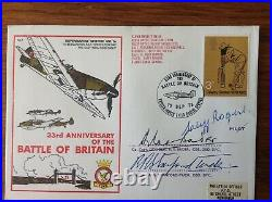 RAF Cover Battle of Britain WW2, Signed Douglas Bader, Stanford-Tuck, C Rogers