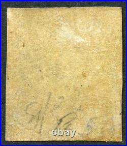 RARE 1840 1d black plate 5 l/t F. L. MH. S. G. 2