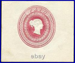 RARE 1848 postal stationery essay by Charles Whiting with Wyon type head