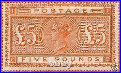 SG. 137. J128a. CB. £5.00 Orange. A fine UNMOUNTED MINT example
