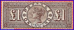 SG. 185. K15. OD. £1.00 brown lilac. A superb VERY lightly mounted