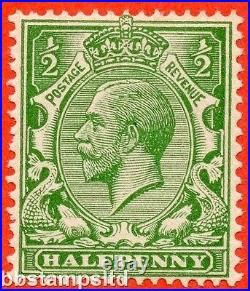 SG. 418 c. ½d green. NO WATERMARK. A superb UNMOUNTED MINT example