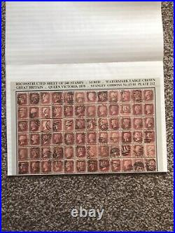 SG 43 penny red plate 212, full reconstruction of 240 stamps AA to TL