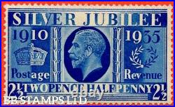 SG. 456a. 2½d Silver Jubilee Prussian Blue. A Superb UNMOUNTED MINT B40461