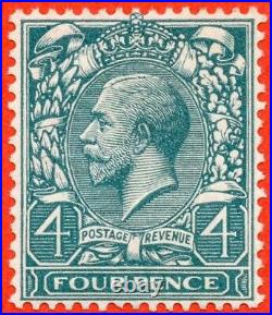 SG. N23 COLOUR TRIAL. 4d bluish grey green. A super UNMOUNTED MINT example