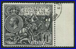 SG438 1929 PUC 1 black, right wing marginal, superb used with cds