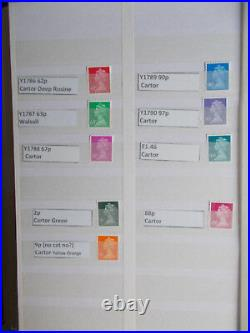 SPECIALISED MACHIN COLLECTION Y1760-Y1790 COMPLETE inc. ALL PRINTINGS 45 Stamps