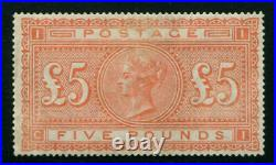 Scarce GB Qv 1867-83 £5 Orange, Sg 137, Very Well Centered, CV £14500