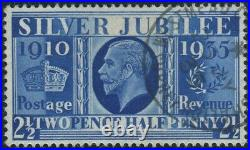 Sg 456a 2½d Prussian Blue. A superb used example with crisp cds accompanied by