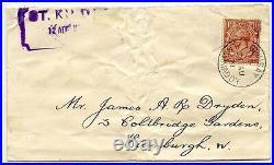 St Kilda RARE 1931 Mail Boat cover to Edinburgh with Steamer Co. Label