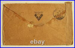 Super Rare! Malaya To Hawaii Cover Detained In Hong Kong By Japan During Wwii