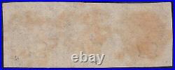 UH 01 1840 PENNY BLACK PLATE 1b STRIP OF 3 FULL MARGINS NO FAULT